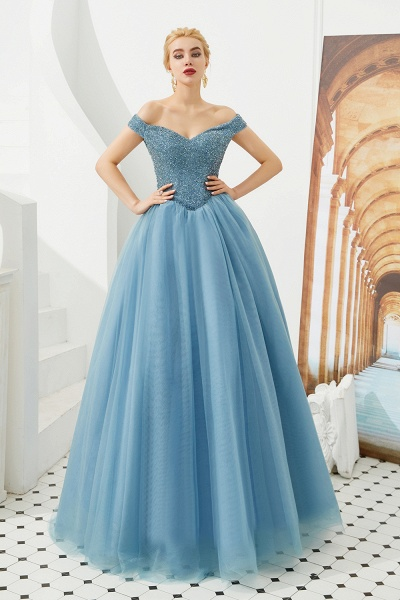 Glorious Off-the-shoulder Tulle A-line Prom Dress_13