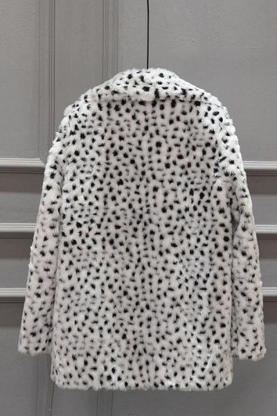Women's Fall & Winter Leopard Daily Faux Fur Coat_4