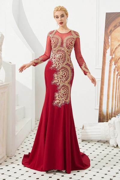 Attractive Jewel Tulle Mermaid Prom Dress_4