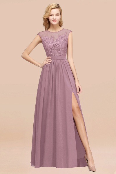 A-line Chiffon Lace Jewel Sleeveless Floor-Length Bridesmaid Dresses with Appliques_43
