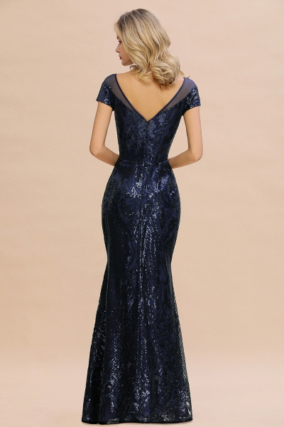 Elegant Jewel Tulle Mermaid Prom Dress_3