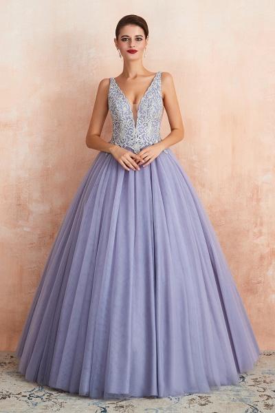 Excellent V-neck Tulle Princess Prom Dress_2