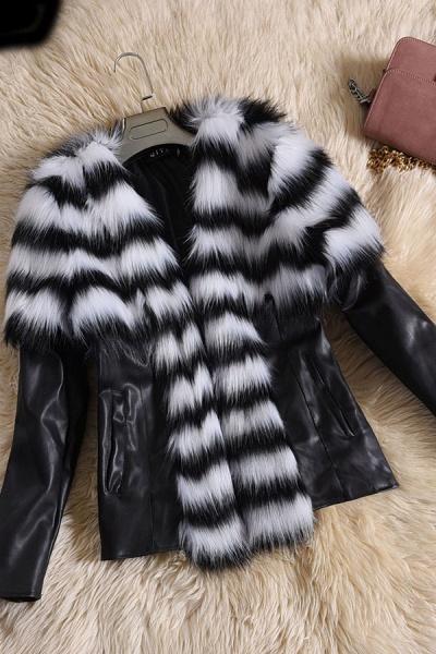 Women's Basic Winter Short Fur Coat_1
