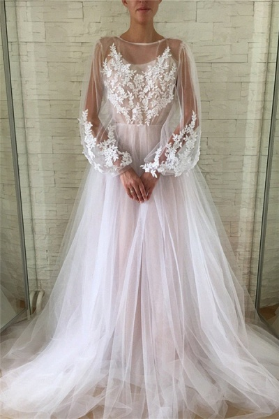 Chic Jewel Tulle A-line Evening Dress