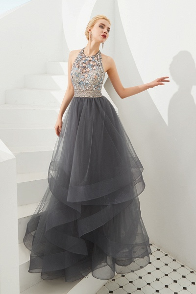 Chic Halter Tulle A-line Prom Dress_4