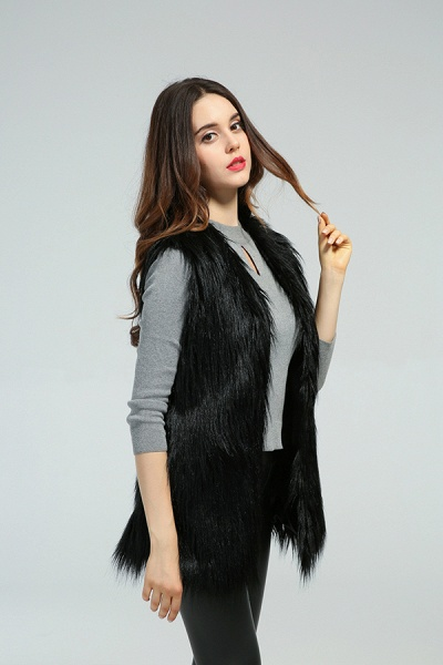 Women's Daily Fall & Winter Faux Fur Vest Coat_9