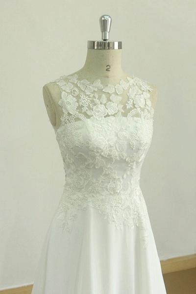 Graceful Appiques Chiffon A-line Wedding Dress_4