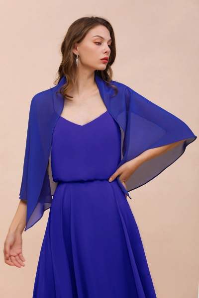 BM1682 Chiffon Royal Blue Special Occasions Wraps