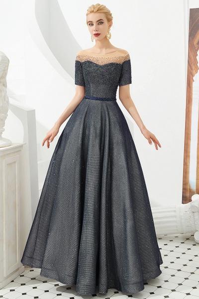 Fascinating Jewel Bright silk Princess Prom Dress_2