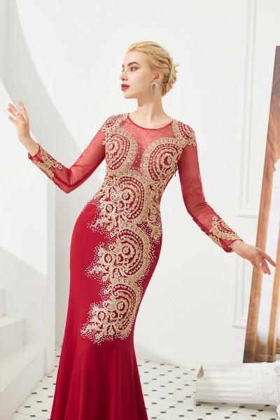 Attractive Jewel Tulle Mermaid Prom Dress_10