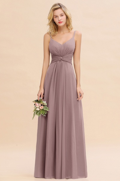 BM0762 Elegant A-line Ruffles Spaghetti Straps Bridesmaid Dress_37