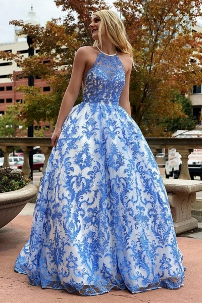 Eye-catching Jewel Lace Ball Gown Prom Dress_1