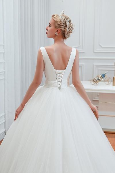 Elegant Lace-up Ruffle Tulle A-line Wedding Dress_11