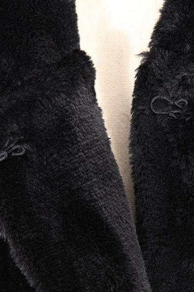 Women's Daily Street Hooded Long Faux Fur Coat_5