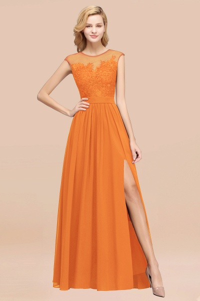 A-line Chiffon Lace Jewel Sleeveless Floor-Length Bridesmaid Dresses with Appliques_15