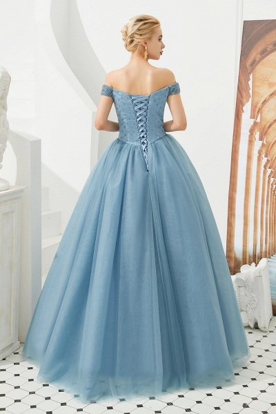 Glorious Off-the-shoulder Tulle A-line Prom Dress_25