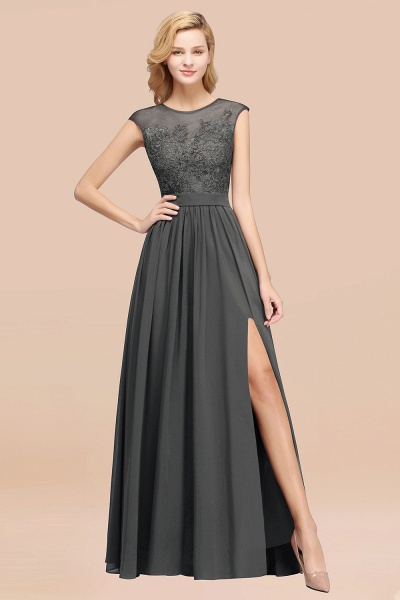 A-line Chiffon Lace Jewel Sleeveless Floor-Length Bridesmaid Dresses with Appliques_46