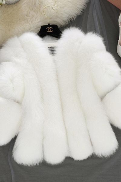 Women's Daily Basic Street Winter Faux Fur Coat_1
