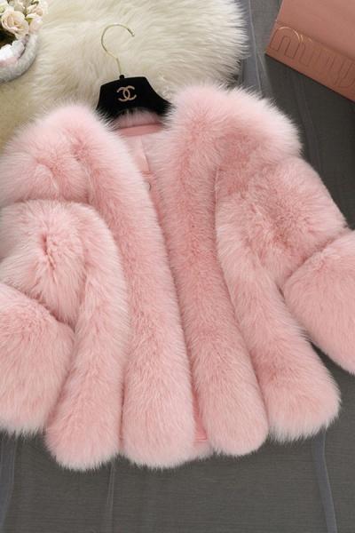 Women's Daily Basic Street Winter Faux Fur Coat_2