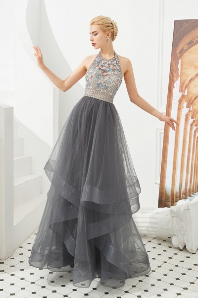 Chic Halter Tulle A-line Prom Dress_1