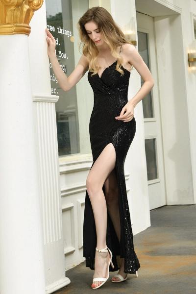 Amazing Spaghetti Strap Split Sequins Prom Dress_8