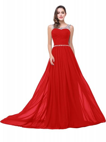 Precious Jewel Chiffon A-line Evening Dress_2