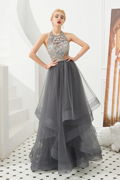Chic Halter Tulle A-line Prom Dress_2