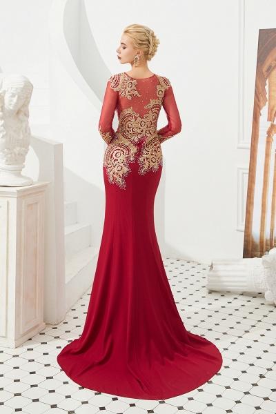 Attractive Jewel Tulle Mermaid Prom Dress_5
