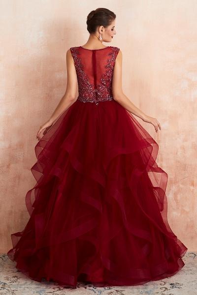 Wonderful V-neck Tulle A-line Prom Dress_5