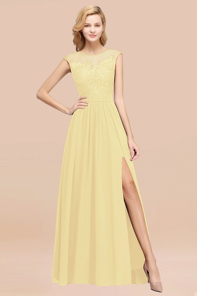 A-line Chiffon Lace Jewel Sleeveless Floor-Length Bridesmaid Dresses with Appliques_18