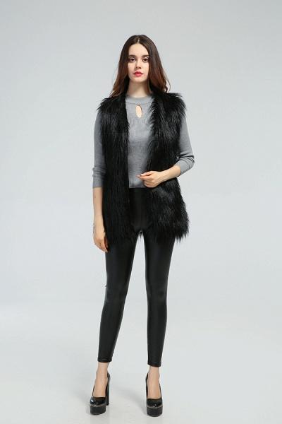 Women's Daily Fall & Winter Faux Fur Vest Coat_20