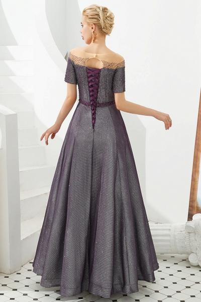Fascinating Jewel Bright silk Princess Prom Dress_8
