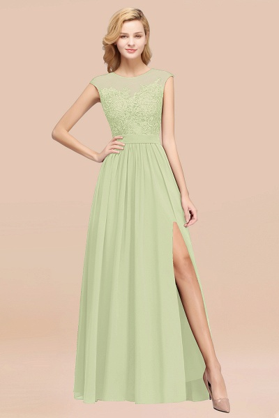 A-line Chiffon Lace Jewel Sleeveless Floor-Length Bridesmaid Dresses with Appliques_35