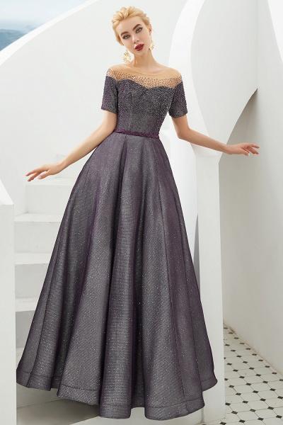 Fascinating Jewel Bright silk Princess Prom Dress_6