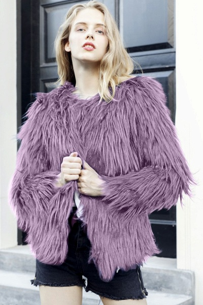 Women's Winter Daily Fashion Street Faux Fur Coat_15