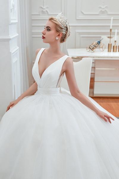 Elegant Lace-up Ruffle Tulle A-line Wedding Dress_10