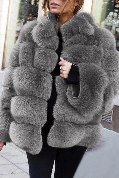 Women's Daily Street Winter Regular Faux Fur Coat_5