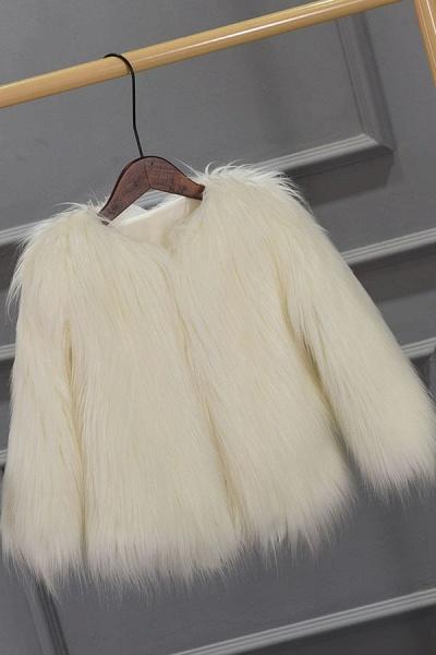 Women's Winter Daily Fashion Street Faux Fur Coat_1