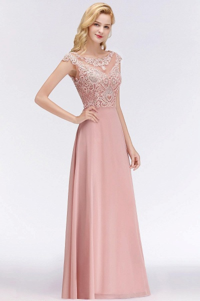 A-line Crystal Decorated Floor Length Evening Dress
