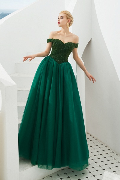 Glorious Off-the-shoulder Tulle A-line Prom Dress_7