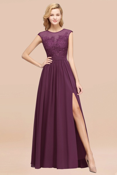 A-line Chiffon Lace Jewel Sleeveless Floor-Length Bridesmaid Dresses with Appliques_20