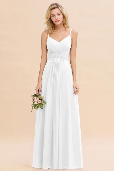 BM0762 Elegant A-line Ruffles Spaghetti Straps Bridesmaid Dress_1