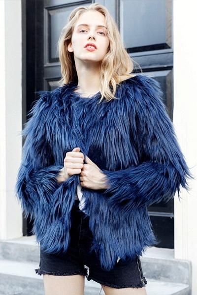 Women's Winter Daily Fashion Street Faux Fur Coat_14