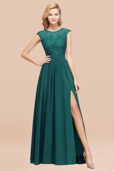 A-line Chiffon Lace Jewel Sleeveless Floor-Length Bridesmaid Dresses with Appliques_33
