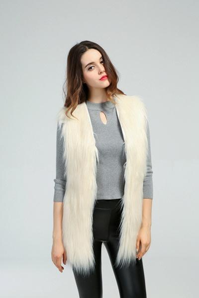 Women's Daily Fall & Winter Faux Fur Vest Coat_12