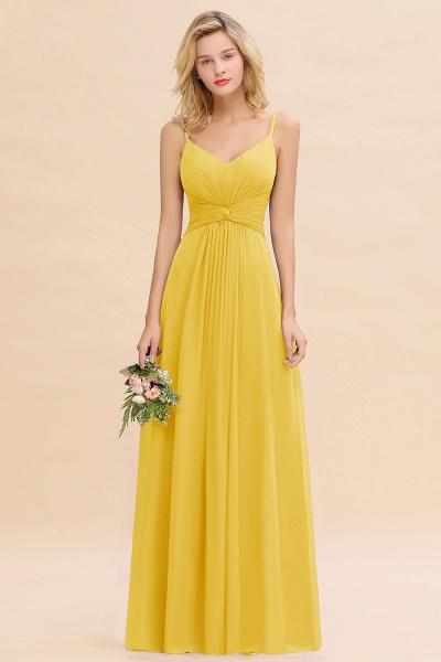 BM0762 Elegant A-line Ruffles Spaghetti Straps Bridesmaid Dress_17