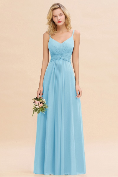 BM0762 Elegant A-line Ruffles Spaghetti Straps Bridesmaid Dress_23