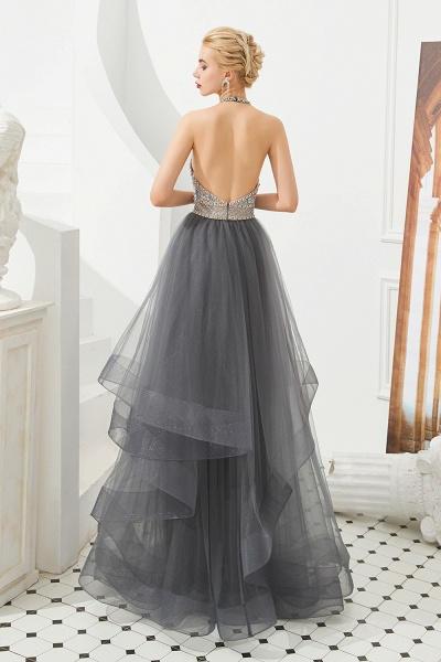 Chic Halter Tulle A-line Prom Dress_5