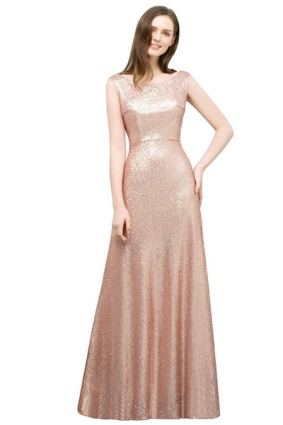 Elegant Jewel Sequined A-line Evening Dress_1