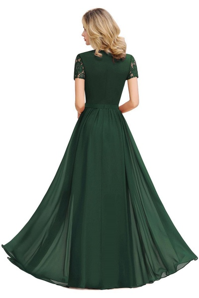 Amazing Chiffon A-line Evening Dress_5